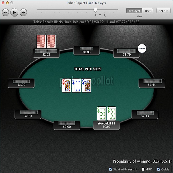 Poker Copilot, une image de son replayer